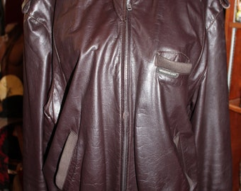 SALE 80s Vintage Mens Classic Leather Members Only Espresso Metro Jacket