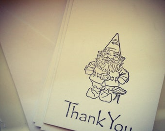 Gnome Stationery // Thank You //Garden Gnome