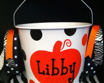 Personalized Halloween Bucket/Pail