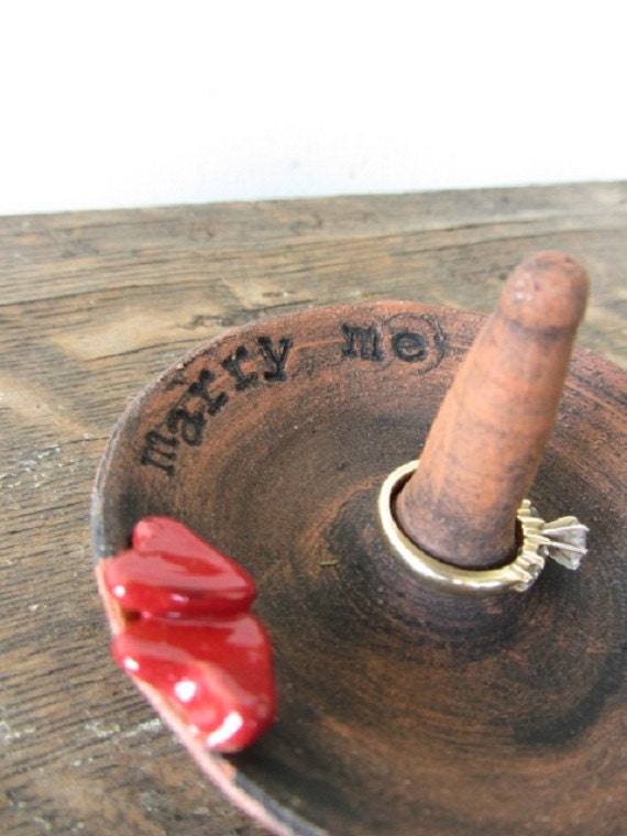 Marry Me ceramic ring holder- free shipping