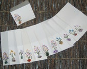 """Exotic Tropical Vintage Florida - Place cards Lovely Watercolors - Hand-Painted Orchids and Jewel Design  5""""x3"""" - So UNIQUE & Dainty  12"""