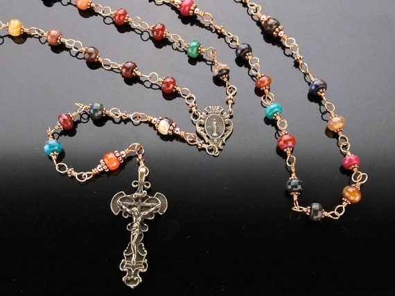 Bronze Wire Wrapped Rosary (Unbreakable) Miraculous Medal