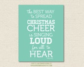 8x10 Buddy The Elf Christmas Cheer Quote Print