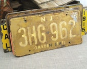 Vintage Licences Plate New Jersey - Odd Bits / Assemblage