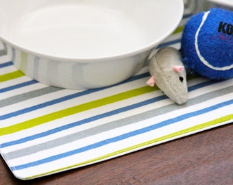 Pet Placemats - stripes in Small Size