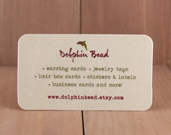 250 SHIMMER cardstock Business cards - choose from 3 edge designs