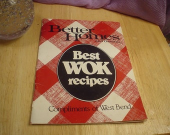 Vintage 1987 Better Homes and Gardens Best Wok recipes