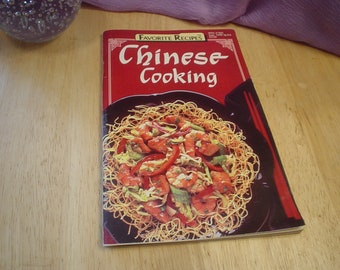 1990  Magazine Cookbook Chinese Cooking, Cookbook, Book, Magazine, Chinese, Kitchen, Dining, Cottage Chic, Bohemian, Eclectic, Cooking, OOAK