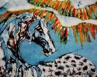 Horse in Sun Trivet   - Appaloosa in Summer Sun Rays -  Ceramic tile