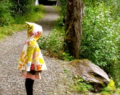 Children's Reversible Hooded Cape size 4-7 - Penelope's Woodland Cape