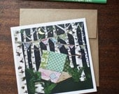 Greeting Card Camping Blank Card Friends Cut Paper Dream Tent -  by Paper Taxi