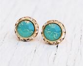 Pacific Blue Opal Earrings Swarovski Earrings Small Sugar Sparklers Swarovski Pacific Blue Opal Rhinestone Earrings Mashugana