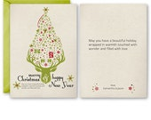 Personalized Xmas Tree Graphic Card