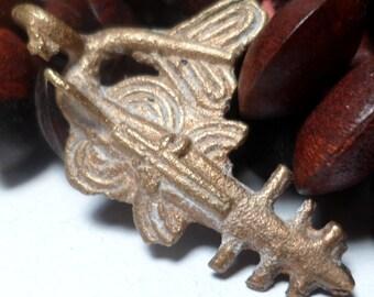 African Pendant Swordfish Cast Brass Goldweight