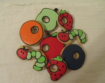 Very Hungry Caterpillar cookies 2 dozen