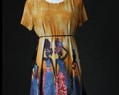 Women Blouse Shirt Kaftan Caftan Tunic Maternity Tshirt / M L XL Tshirt Gifts Idea Top Art Ladies