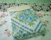 Vintage Pillowcase set of 2 blue floral