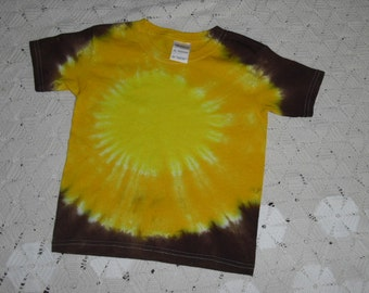 Tie dye shirt, extra small youth, golds and browns- Halloween Costume idea included, 300