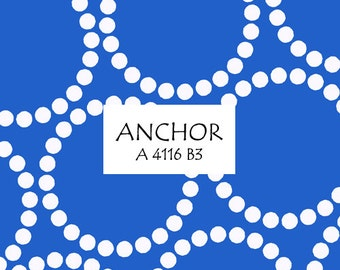 Half Yard Anchor Pearl Bracelet, Lizzy House for Andover Fabrics, 100% Cotton Fabric, A 4116 B3