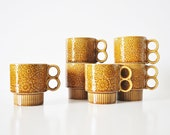 Six Stacking Coffee Mugs - Circa 1970s