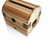 Wedding Card Box treasure chest treasure box XXL Jumbo size with card slot