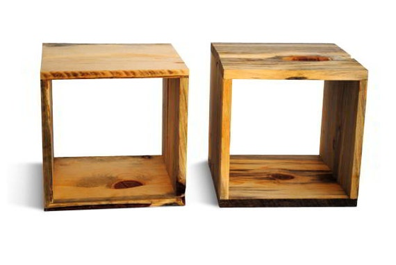 Wood Storage Cube one 12 by 12 inch Cubbie reclaimed wood sustainably ...