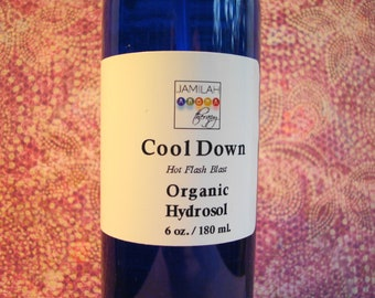 Cool Down Organic Hydrosol with Organic & Wildcrafted Essential Oils for Occasional Heated Flare-Ups, 1 oz. Pocket-Carry Sprayer Included