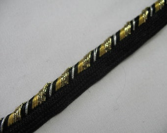 Black Gold Silver Pillow Trim Piping Cord Gimp