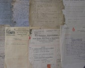 MIXED COLLECTION VINTAGE receipts, stocks and shares, insurance envelopes etc 1899-1961