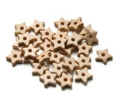 Ivory Cream Star Ceramic Beads - 30 pcs C 10 064