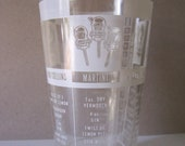 Large vintage Federal glass for measuring and mixing cocktails 1960s