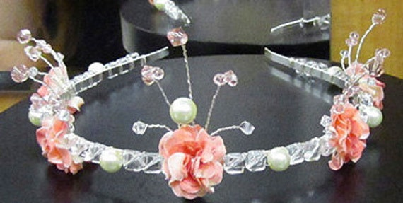 Romantic Tiara - CUSTOM - Prom, Wedding, Winter or Spring Formal, Renaissance Faire - Romance, Love