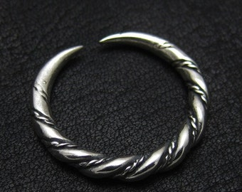 Silver Viking ring from Gotland
