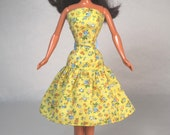 Buttercup  Barbie Doll Dress Handmade Barbie Doll Clothes