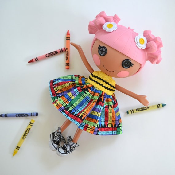 Color Me Happy Crayon Dress for Full Size Lalaloopsy Doll