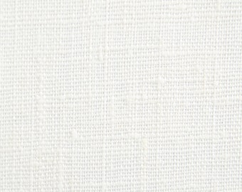 "One Piece - 58"" x 58"" - Laundered  Linen Fabric - Home Furnishings - Drapery - Table Top Linens - 5.5 ounce - Color:  Oyster/ Off White"
