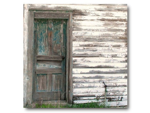 Rustic Farm Photo, Vintage Farmhouse Door, teal, cottage chic country dilapidated house beautiful deep teal weathered door shabby farmhouse