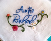 Custom Embroidered Vintage Handkerchief for Special Occasion