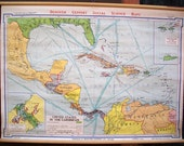 United States in the Caribbean - Vintage Wall Map