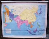 Asia 1900 World History Series Wall Map
