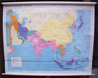 Asia 1900 World History Series Wall Map