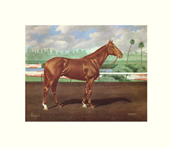 Swaps Horse Of The Year By Allen F Brewer Jr Print Size