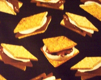 Smores Marshmellow Crackers Cotton Fabric Fat Quarter or Custom Listing