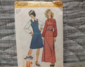 Vintage Dress Pattern Simplicity 5239 1972 Long and Short Style - Misses Size 16 Bust 38 Easy Sew Retro Fashion