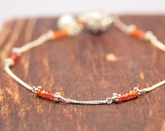 Carnelian Bridesmaid Bracelets, Coral Bridesmaid Gifts, Dainty Bracelet Collection, Weddings/Will You Be My Bridesmaid
