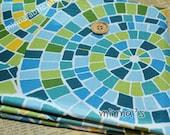 Vinyl Waterproof Fabric -mosaic  - Fat Quarter(27in x 19in) - WF039