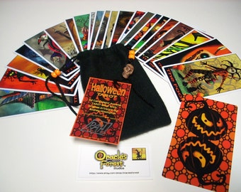 Halloween Tarot Cards - 22 Card Major Arcana Deck (With Handmade Tarot bag)
