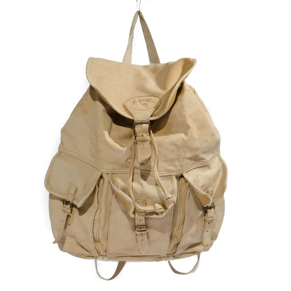 Camel Leather Backpack | Os Backpacks