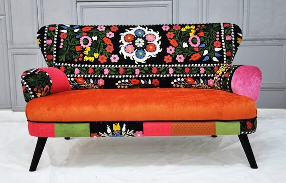Patchwork sofa with Suzani fabrics - 2