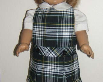 18 inch Doll jumper plaid 61 or Campbell plaid